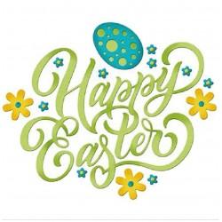 Комплект щанци за изрязане и релеф - Честит Великден