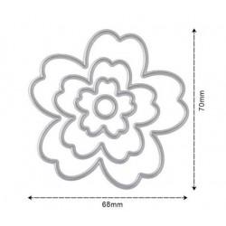 Flower 3 D cutting die