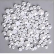 Бели перли - 5 мм, 80 бр.