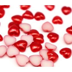 Перли сърца 48 бр. - червени