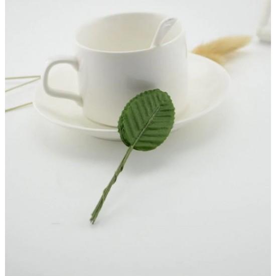 Buttonhole leaves 10 pcs. - green