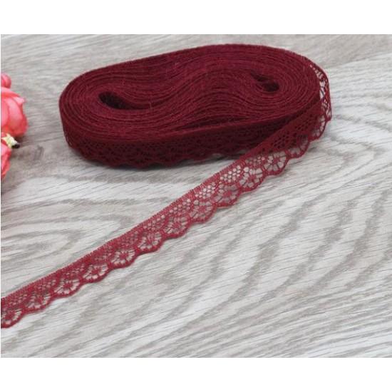 Lace ribbon - burgundy