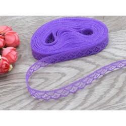 Дантелена панделка - лилав цвят