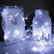 Luminous garland with batteries
