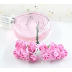 Хартиени цветя 12 бр.- розови