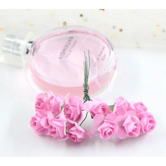 Paper flowers 12 pcs.- pink