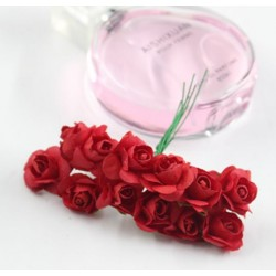 Paper flowers 12 pcs - red
