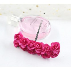 Paper flowers 12 pcs. - dark pink