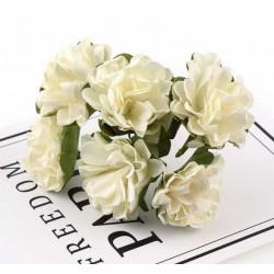 Хартиени цветя 6 бр.- бели