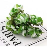 Paper flowers 6 pcs. - green