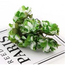 Хартиени цветя 6 бр.- зелени