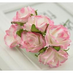 Хартиени цветя 6 бр.- розови