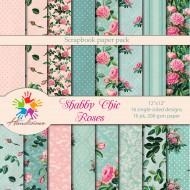 Дизайнерски картони Шаби Шик стил в розово и тюркоаз