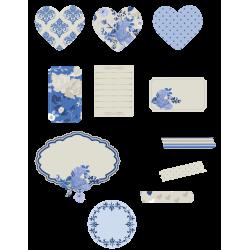 Дизайнерски картони - Синьо и Бежово