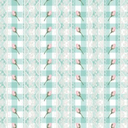 Дизайнерски картони Шаби Шик стил в светло синьо