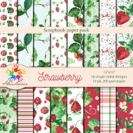 Design paper packs -  Watercolors of strawberries
