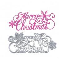 Шаблон за изрязване и релеф - Merry Christmas