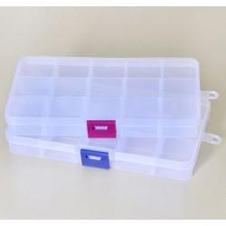 Кутия с 10 разделения - прозрачна