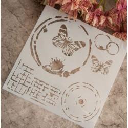 Шаблон с пеперуди
