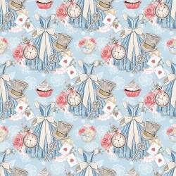 Дизайнерски картони на лист - Алиса в страната на чудесата 2043