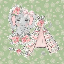 Дизайнерски картони на лист - розово слонче 2024