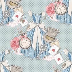Дизайнерски картони на лист - Алиса в страната на чудесата 2042
