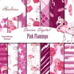 Design paper pack - Pink Flamingo