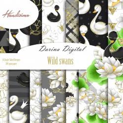 Дизайнерски картони - Wild swans