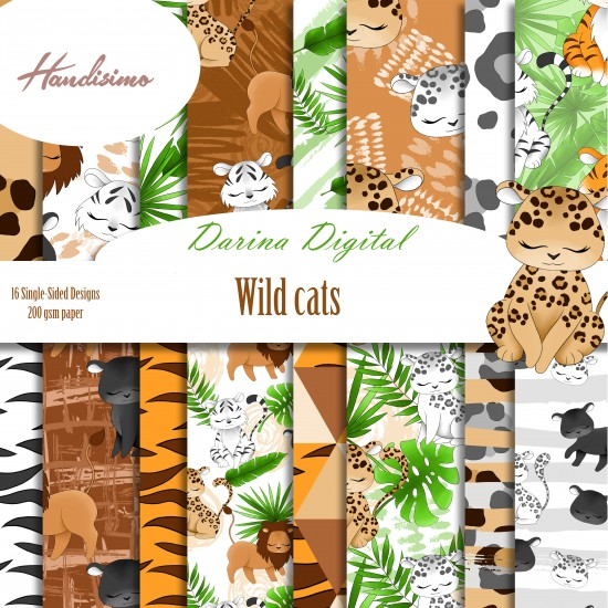 Design paper pack - Wild Cats