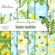 Дизайнерски картони - Summer dandelion - 8х8 инча