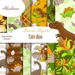 Design paper pack - Cute dino