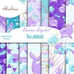 Дизайнерски картони - Sea animals