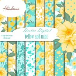 Дизайнерски картони - Yellow and mint