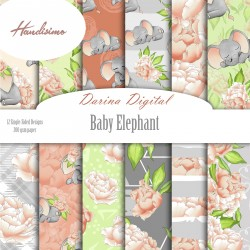 Design pattern paper pack - Baby elephant