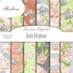 Дизайнерски картони - Baby elephant