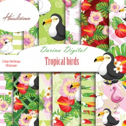 Дизайнерски картони - Tropical Birds