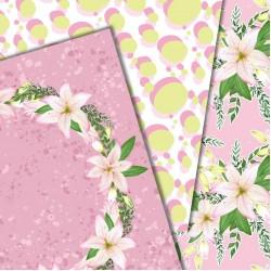 Design paper pack - Summer lilium
