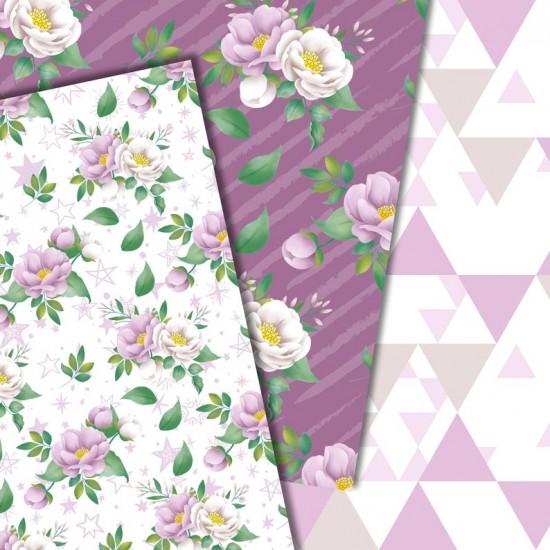 Дизайнерски картони - Flowers in purple