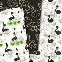 Дизайнерски картони - Wild swans- 8х8 инча