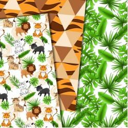 Дизайнерски картони - Wild Cats - 8х8 инча