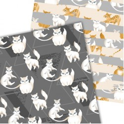 Дизайнерски картони - Cats - 8х8 инча