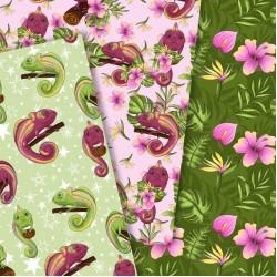 Design paper - Chameleon - 8х8  inches