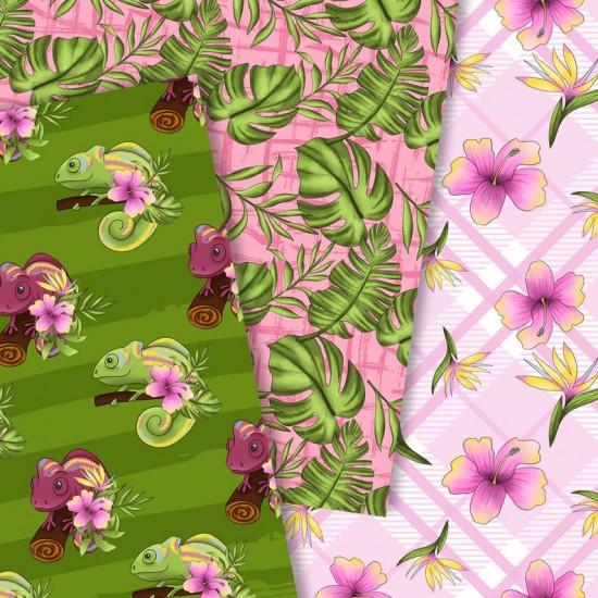 Дизайнерски картони - Chameleon - 8х8  инча